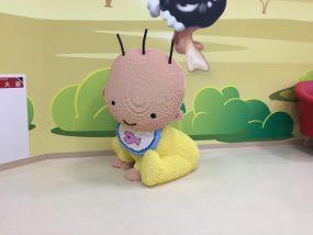 レゴランドジャパンの授乳室の赤ちゃんレゴ