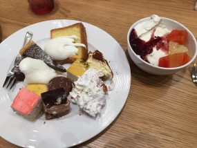 ワールドスイーツブッフェのケーキ
