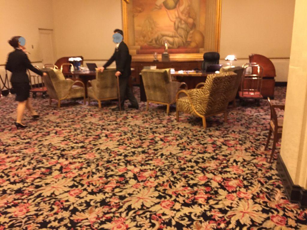ホテルザマンハッタンのフロント
